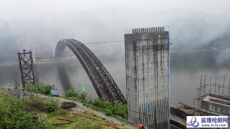 国内最大拱桥有平衡重平转成功